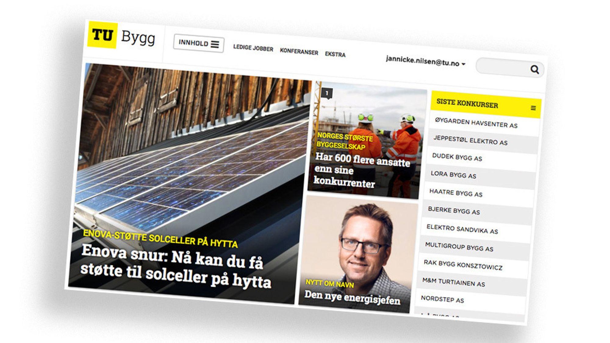 28. mai lanserte Teknisk Ukeblad TU Bygg – et nisjenettsted for bygge- og eiendomsnæringen.