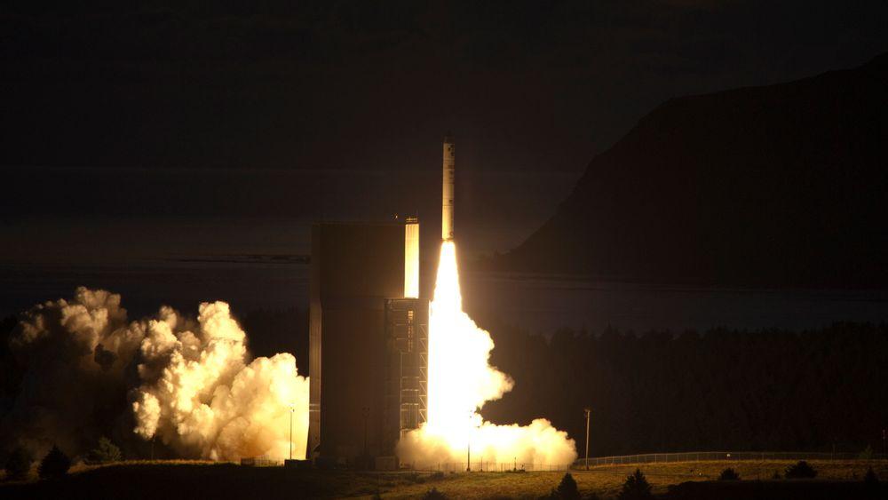 En rakettoppskytning  i Kodiak i Alaska i 2011. Bildet er kun en illustrasjon.