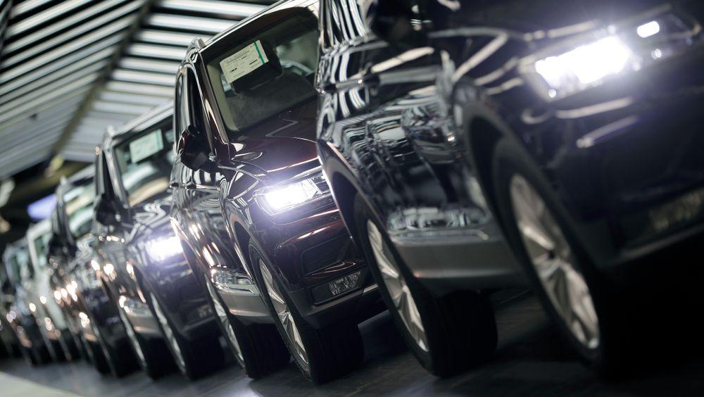 Fra kvaliteteskontrollen ved Volkswagens fabrikk i Wolfsburg.