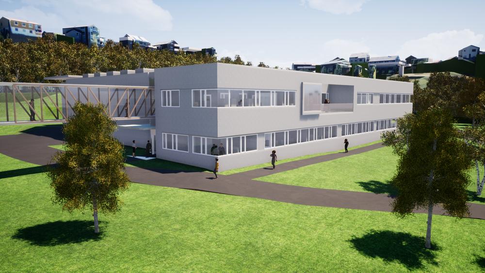 Det nye laboratoriet vil få solceller på taket.