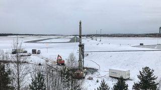 Norges dypeste energibrønner graves 1500 meter under Gardermoen