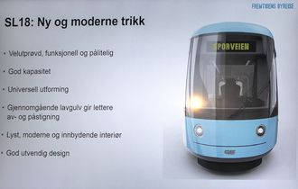 Slik blir de nye trikkene i Oslo.