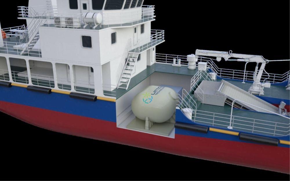 LNG-drivstofftanken til Lattice Technology utnytter mye mer av volumet sammenliknet med en sylindrisk tank.
