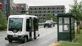 Nå kjører Norges første selvkjørende buss i trafikk