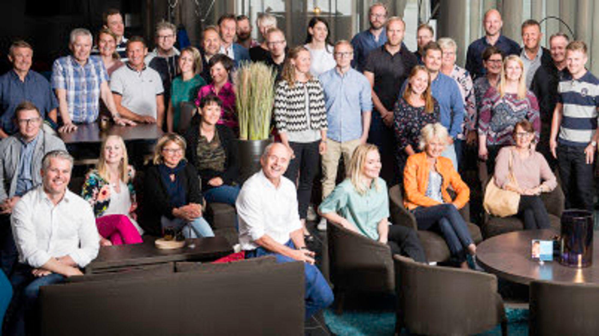 Noen av de 45 ansatte ved Arkitekthuset Monarken