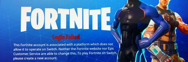 Fortnite-kontoer fra PlayStation 4 er sperret på Switch