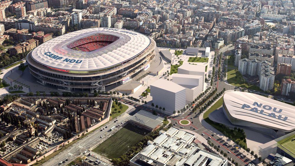 Nye Nou Camp skal stå ferdig i 2022, hele komplekset i 2024.