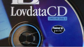 Lovdatas CD-ROM. Foto.