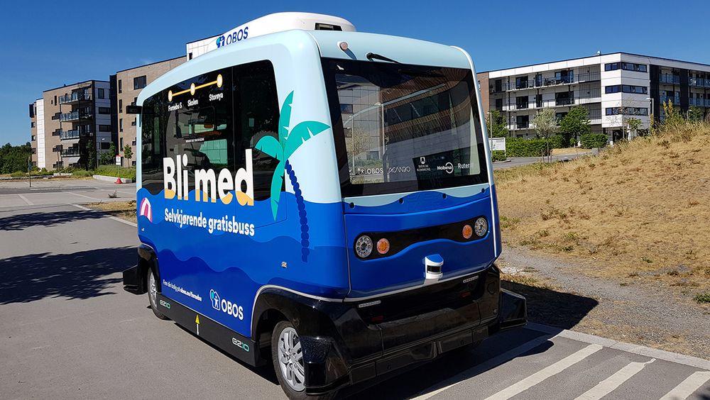 Badebussen på Fornebu blir den andre selvkjørende bussen i trafikk i Norge.