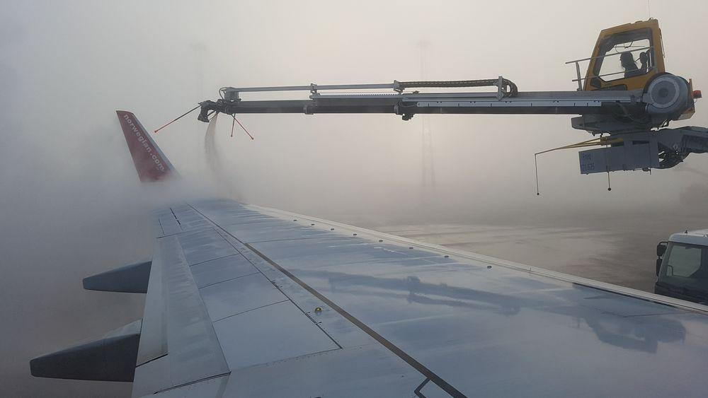 Avising av fly på Gardermoen.