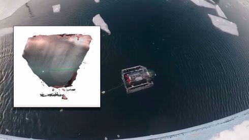 Ingeniørstudenter designet robot som kan dykke 50 meter og tegne 3D-modell av isfjell