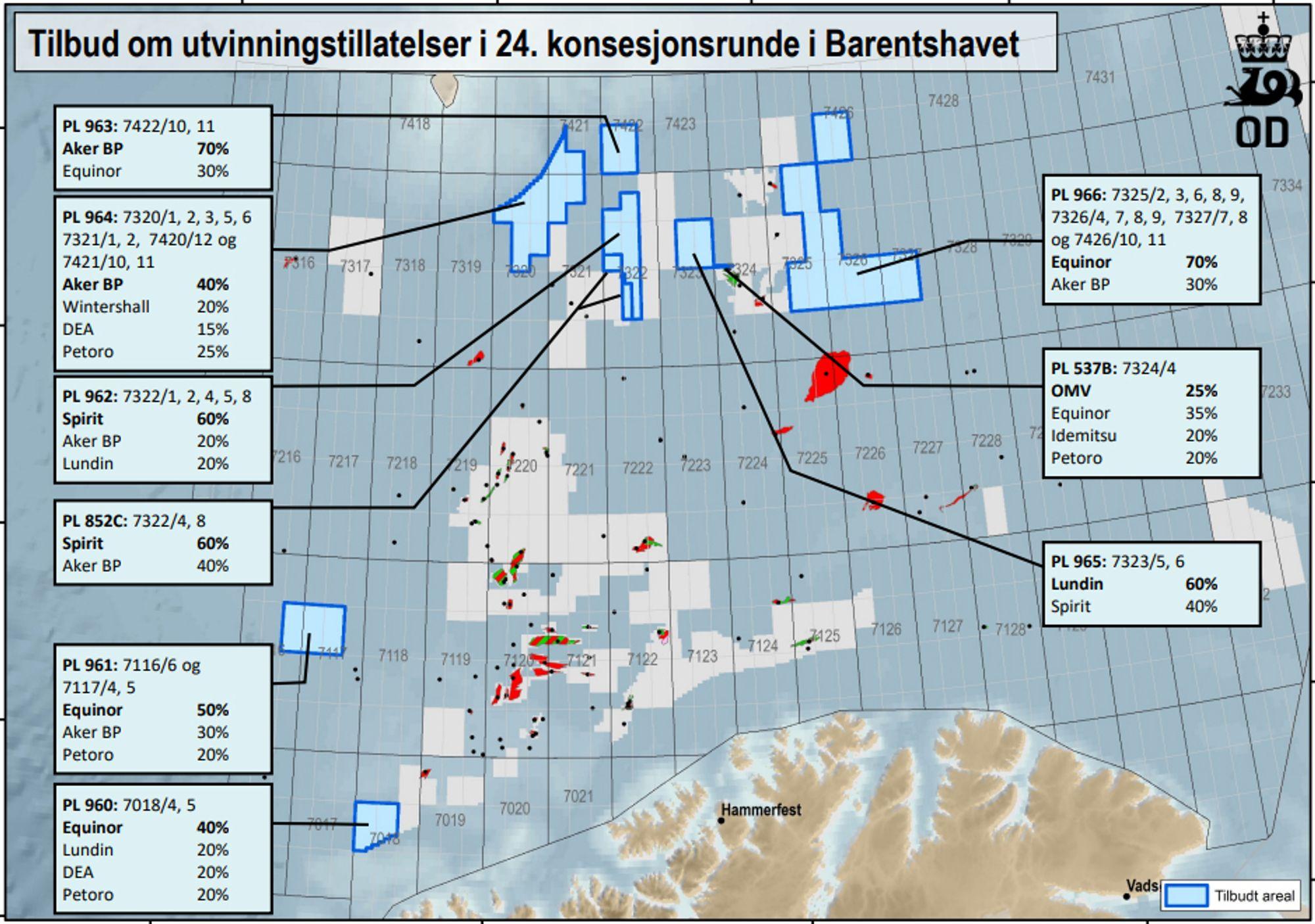 Deler Ut Nye Leteomrader I Norskehavet Og Barentshavet Tu No