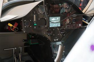 Cockpiten i Pipstrel-flyet.
