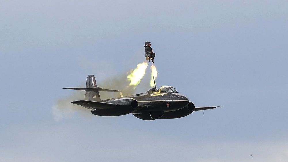 Test av utskytningssete fra Martin-Bakers Gloster-Meteor tidligere i juni.