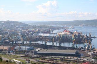 Havna i Murmansk.