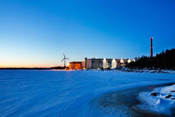 Googles datasenter i Hamina, Finland, ligger svært nær Finskebukta og har dermed rikelig tilgang på kaldt vann.