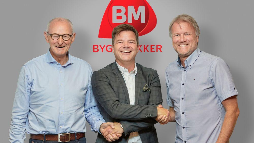 Gunnar Johansen (t.v), Knut Strand Jacobsen og Eirik Tronstad.