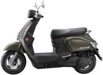 En Kymco-scooter.