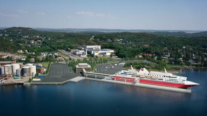 Tapte kampen om de beste avgangstidene - nå kjøper rederiet ny tomt og bygger egen havn