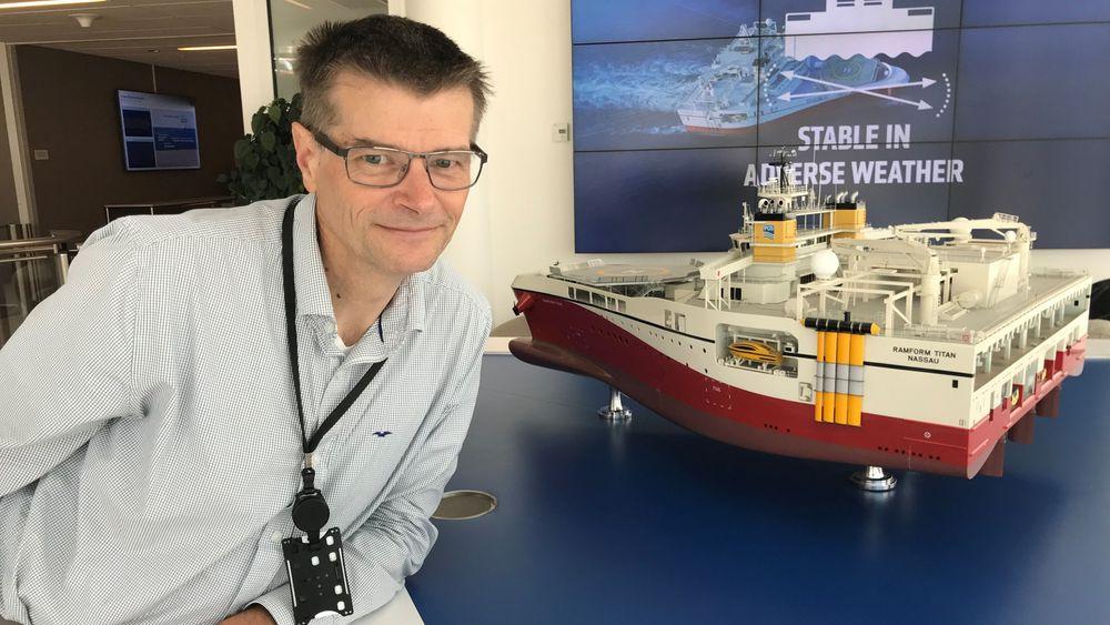 Stian Hegna er geofysiker i PGS' forskningsavdeling. Han har flere titalls patenter på samvittigheten.