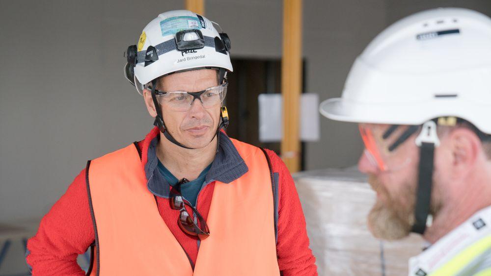 Jard Bringedal og Per Egil Steen er seriøse prosjektdirektører.