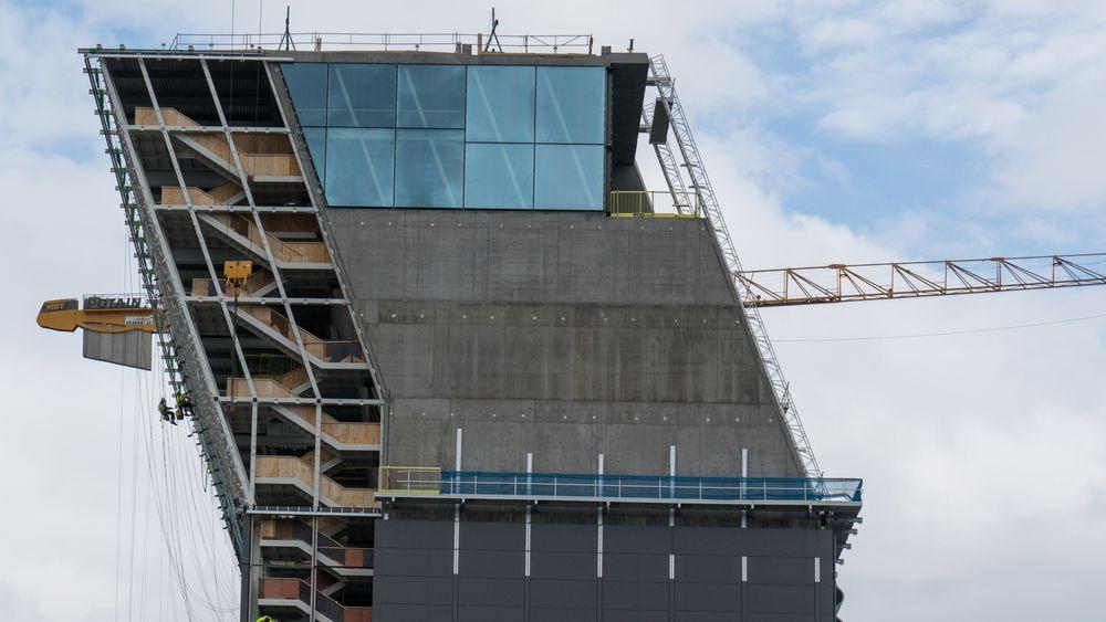 Folk fra konkursrammede MK1 Bygg skal ha vært med på å montere glassfasadene på det nye Munch-museet i Oslo.