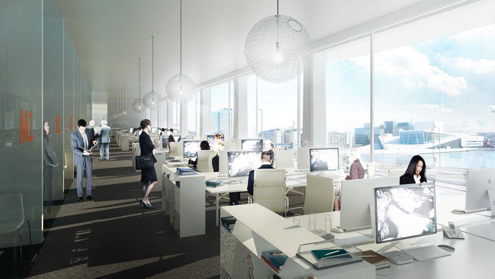 Kontorbygg kan oppføres for ca. 26.000 kroner pr. kvadratmeter, viser våre beregninger.