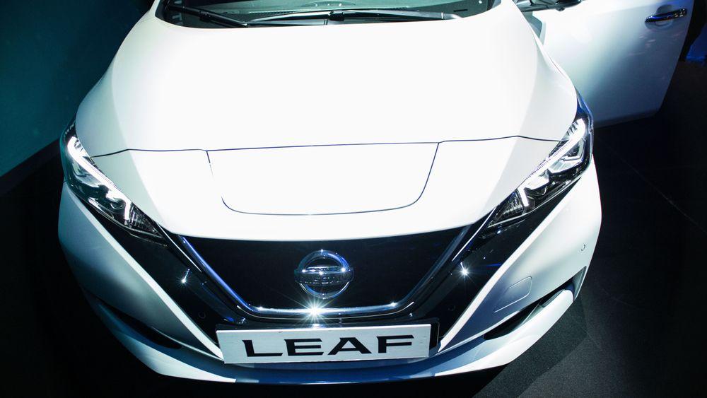 Nissan LEAF var den mest nyregistrerte bilen i Norge i juni. Illustrasjonsfoto: