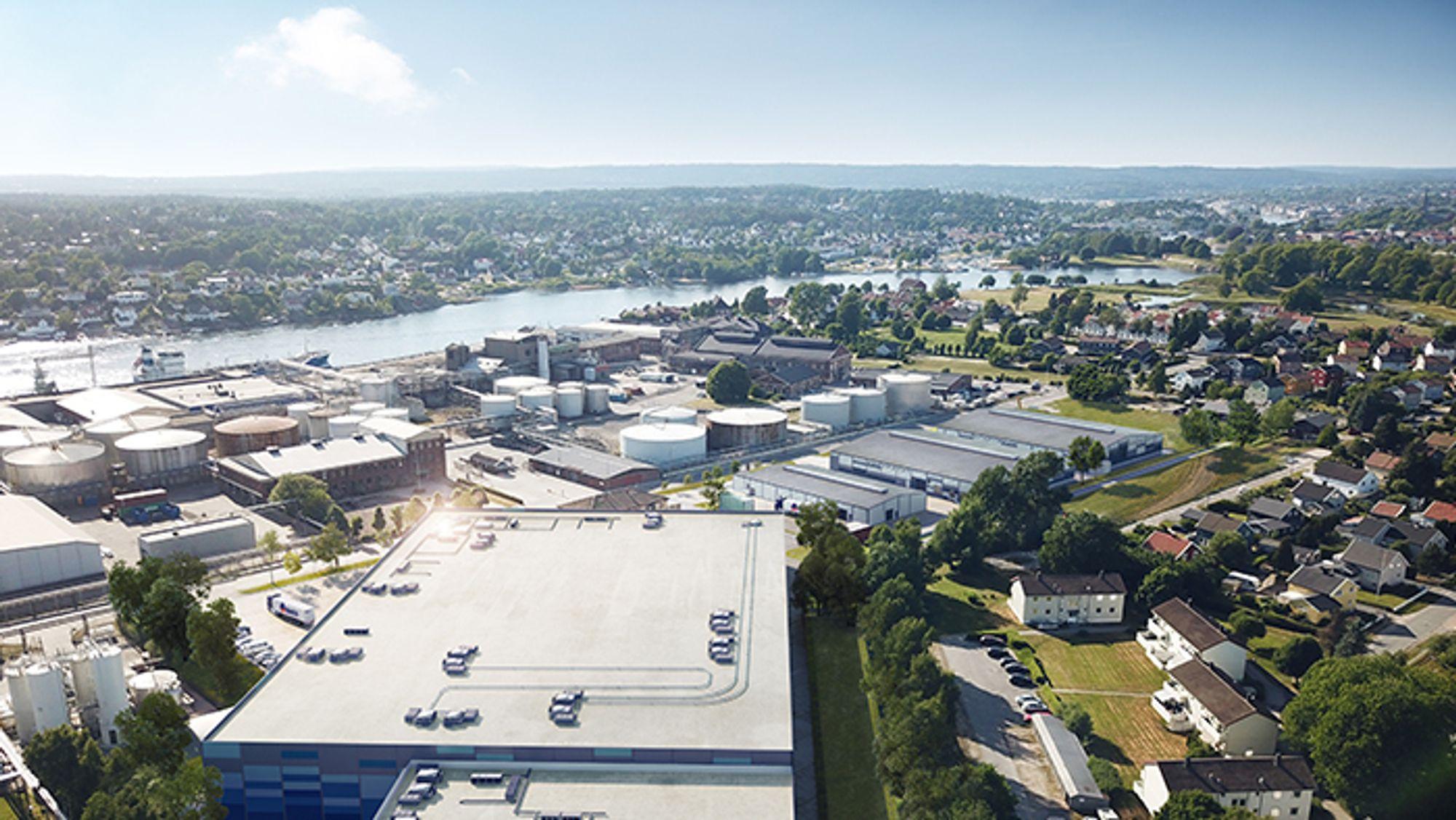 Her skal Norges første – og Europas største – landbaserte oppdrettsanlegg starte produksjonen i desember.