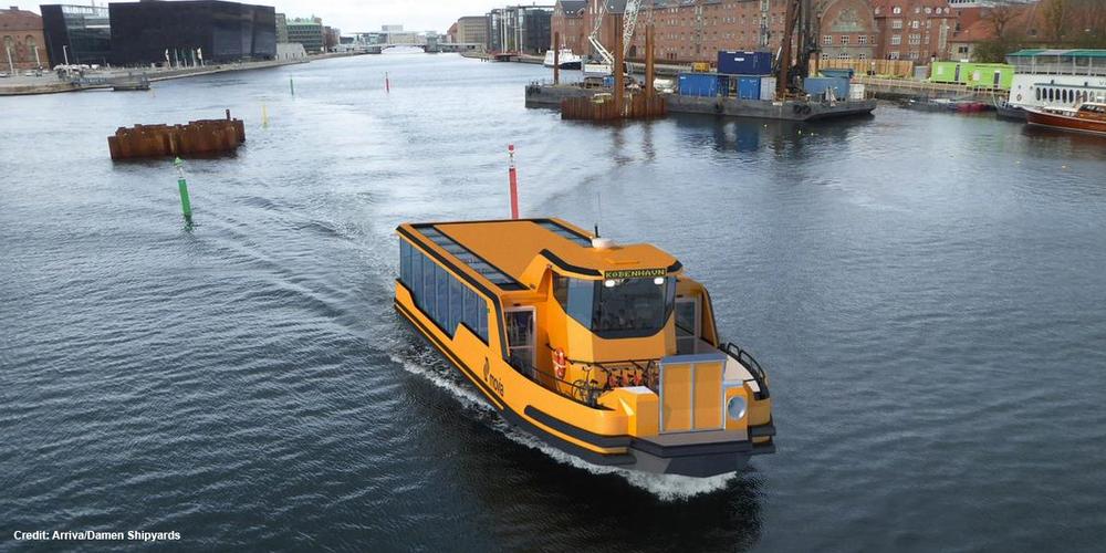 De gule havnebussene i København skal bli grønne og helelektriske fra 2020.