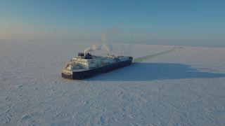 Christophe de Margerie  LNG-skip, Lendge: 282 meter. Lastkapasitet: 172.600 m3 LNG. 80.200 dødvekttonn.  Eid av Sovcomflot. Isbrytende, første av en serie på 15 for Yamal LNG-prosjekt. Isklasse Arc 7 (maks 2,1 meter is). Første last 8. desember 2017 fra Sabetta, Yamal-halvøya. Bygget i Sør-Korea, Daewoo Shipbuilding & Marine Engineering, DSME)