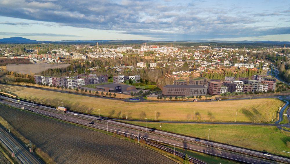 Conceptor inntar boligmarkedet, og skal bygge ut områder utenfor Oslo. Her vises Jessheim Sør.