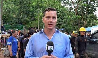 Reporter Kjetil Iden i TV 2 rapporterer fra Thailand