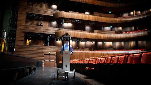 Denne roboten 3D-scanner Operahuset i Oslo.