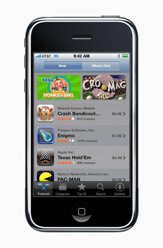 Slik så App Store ut i 2008.