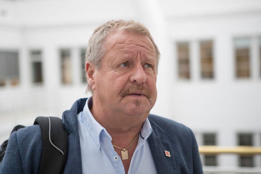Nestleder i SAFE Roy Aleksandersen før møtet mellom partene i Brønnserviceavtalen onsdag morgen. Fagforbundet SAFE har varslet Riksmekleren at de tar ut 663 medlemmer i streik fra natt til torsdag, dersom man ikke kommer til enighet med Norsk olje og gass om Brønnserviceavtalen.