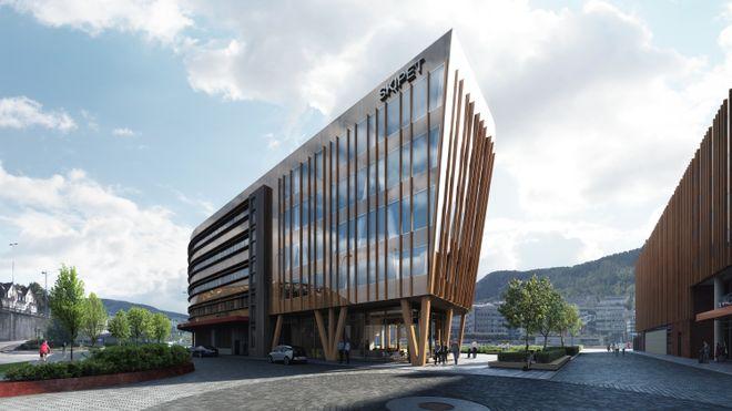 Bygger Bergens største massivtrebygg