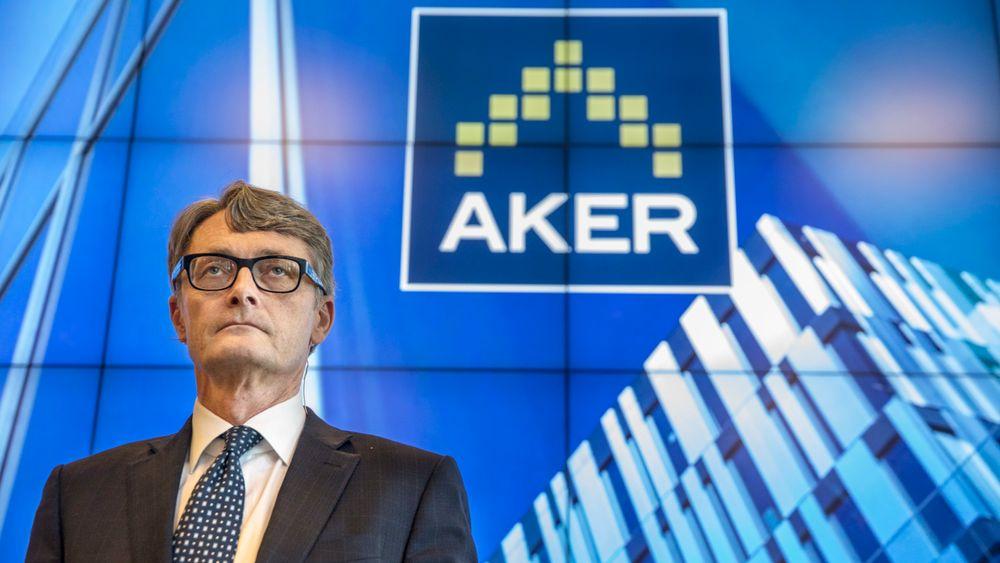Konsernsjef Øyvind Eriksen  i Aker ASA presenterer selskapets resultater for 1. kvartal 2018.