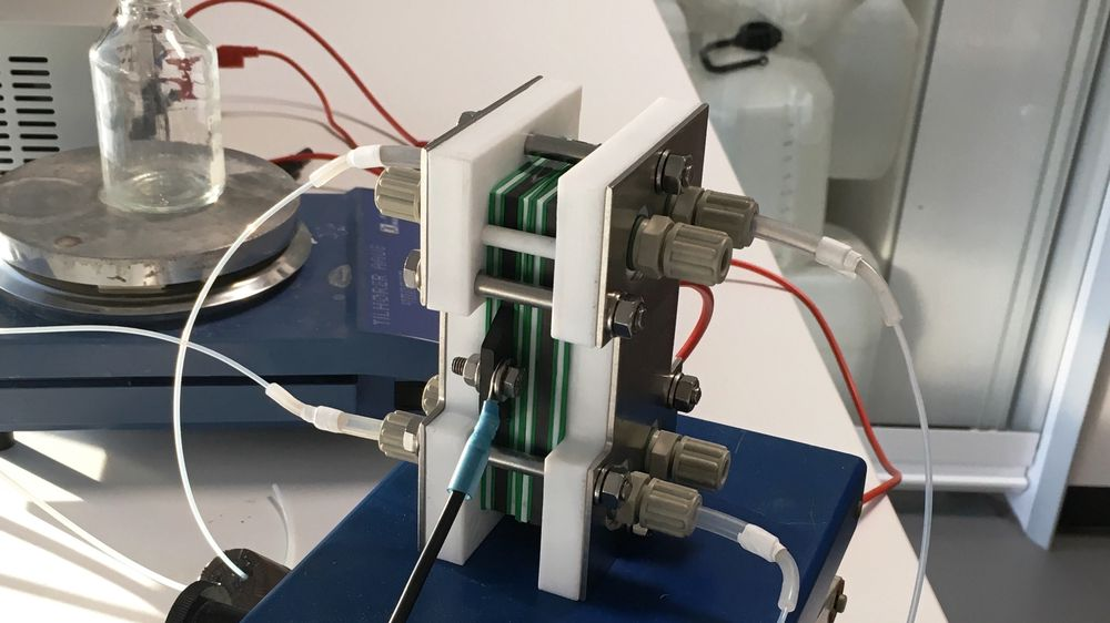 Slik ser elektrocellen i prototypen av det biologiske batteriet ut.