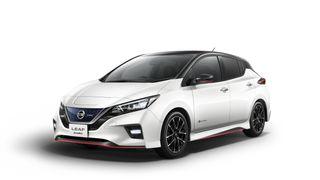Nissan Leaf Nismo ble vist frem i sommer. Dette er en mer sportslig utgave av bilen.