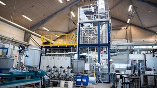 Siden 2016 har forskere på Institut for Ingeniørvidenskab ved Aarhus Universitet gjennomført pilotforsøk på anlegget i Foulum ved Viborg. Gjennom elektrolyse og katalyse omdannes drivhusgassen CO2 til metangass, som kan lagres og distribueres på naturgassnettet.