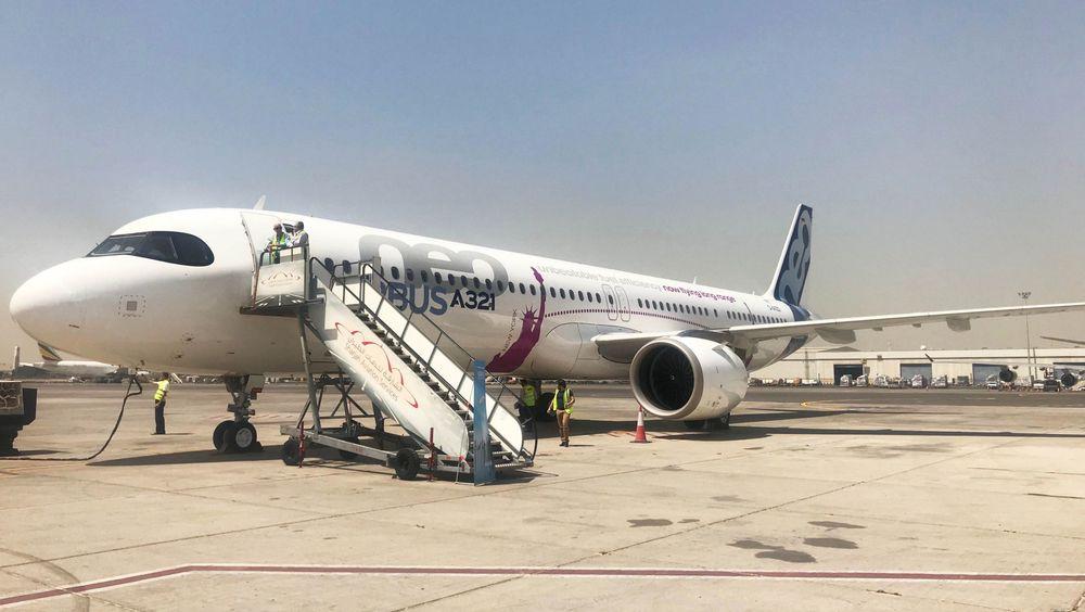 A321LR-testflyet på Seychellene i april.