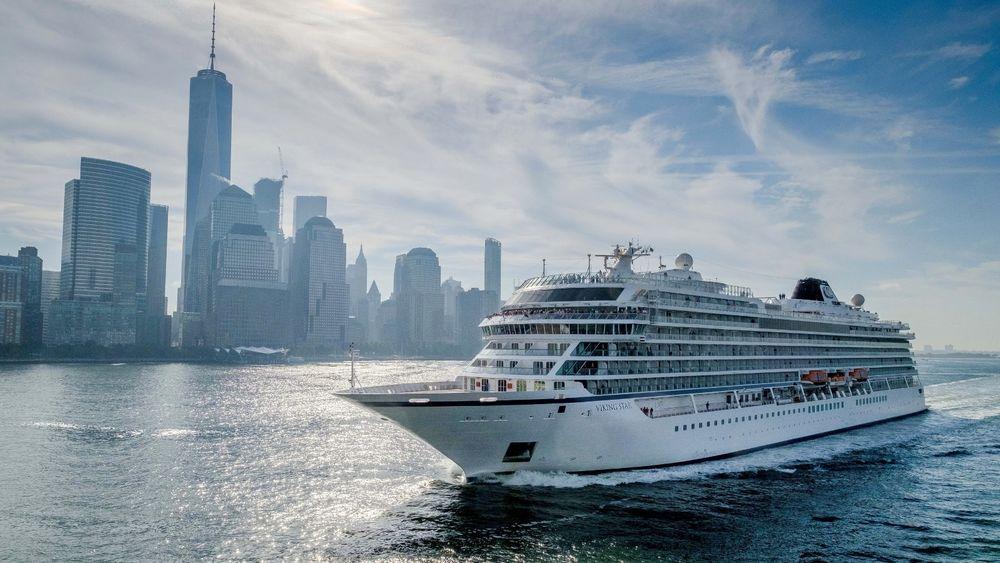 Viking Cruises har tildelt en kontrakt til Vard p[ fem milliarder kroner for byggingen av to cruiseskip. Her illustrert ved et av selskapets eksisterende skip, Viking Star.