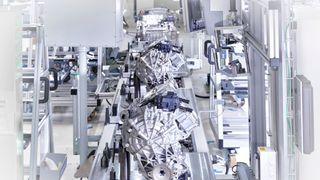 En ferdigstilt elektrisk motor fra Audi.