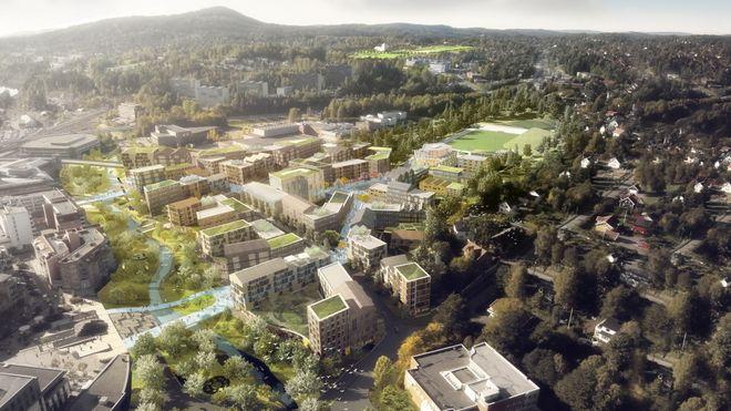 Skal utvide Asker sentrum med 60 prosent. Setter avarealer til mer enn 11.000 nye boliger