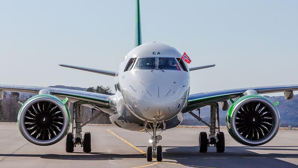 LN-WEA var Widerøes og verdens første E190-E2 som ble satt i drift. Det ankom Norge (BGO) 12. april.