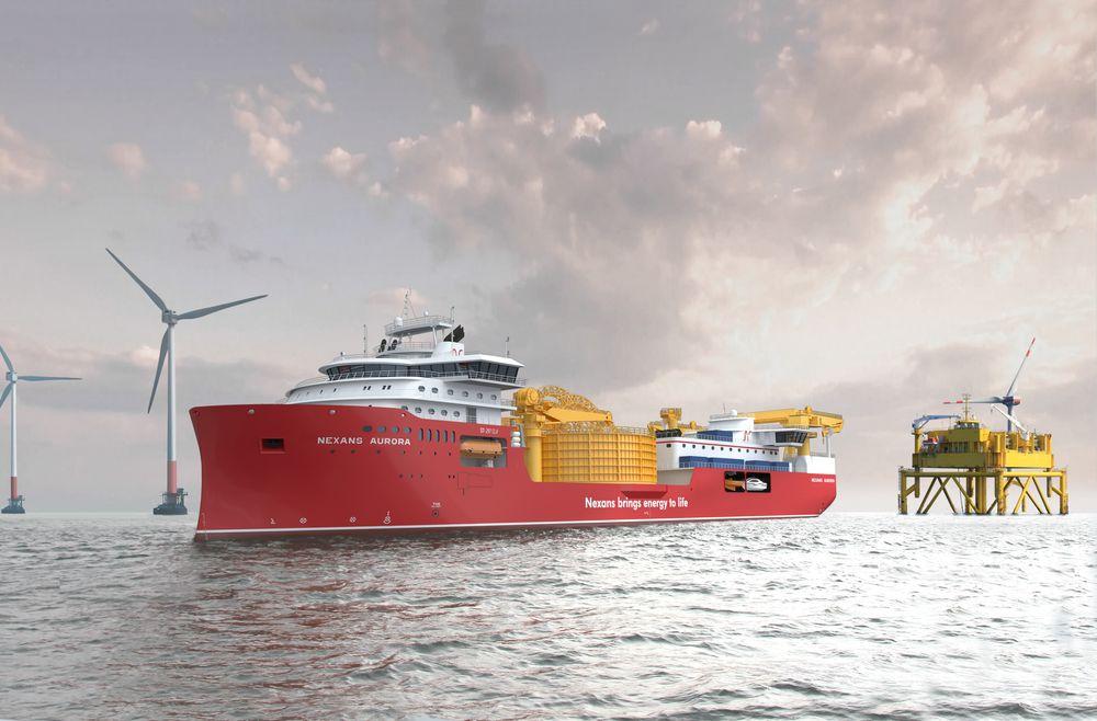 Skipsteknisk har designet kabelleggingsfartøyet på nesten 150 meters lengde for Nexans Subsea Operations . Ulstein verft fikk byggekontrakten i juli 2018.