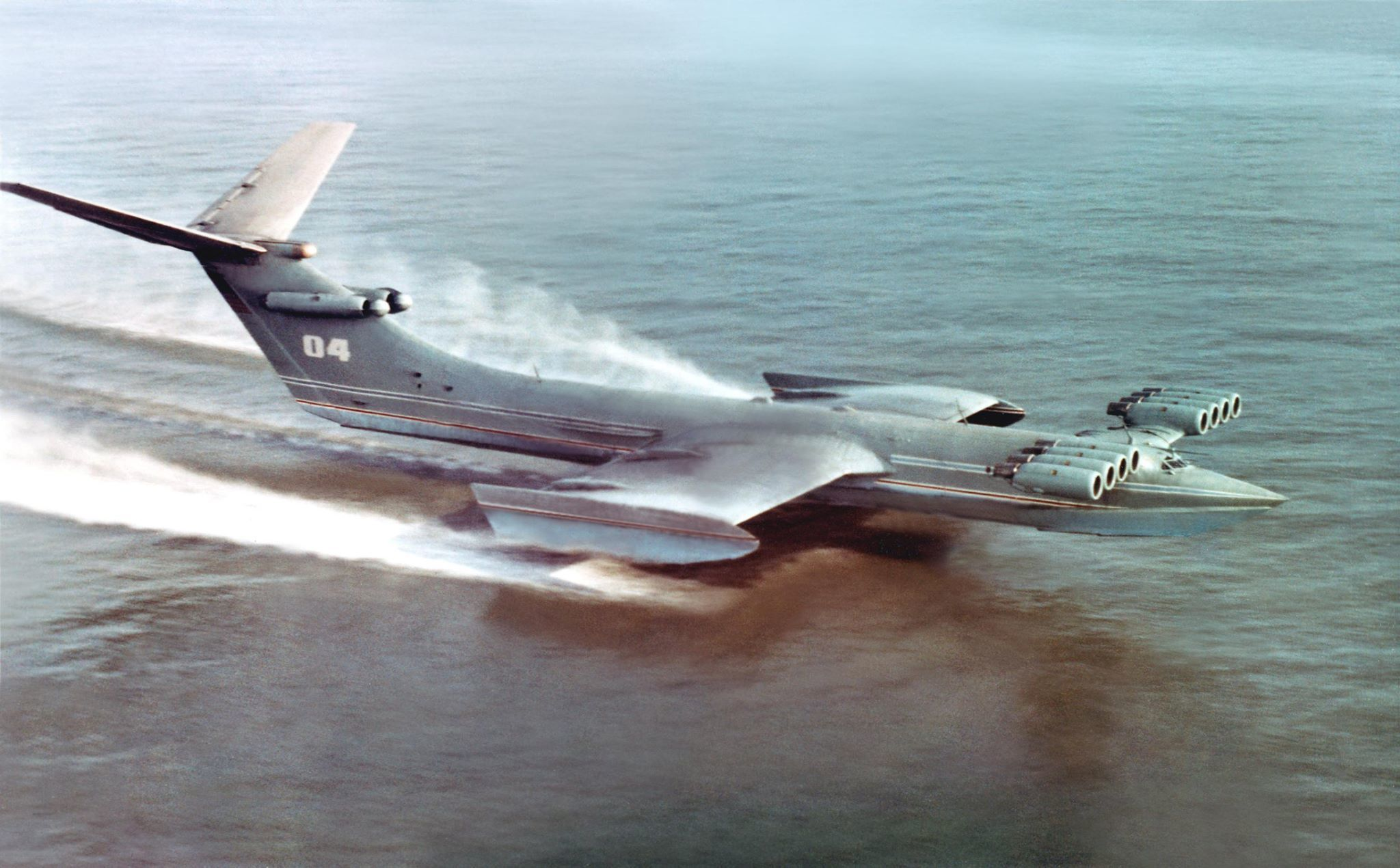 6d8231e6b3e8 Russland Støvet no Ekranoplan Sovjets Av Enorme Tu Børster RanRw4qPz