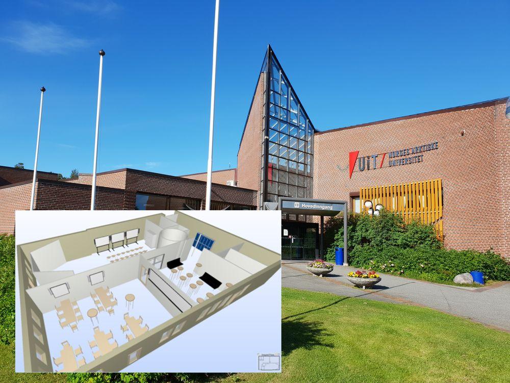 På universitet i Alta bygges det et 100 kvadratmeters rom med ulike digitale verktøy, blant annet en 3D CAVE («3D-hule») som skal forenkle byggeplanleggingen i kommunen.