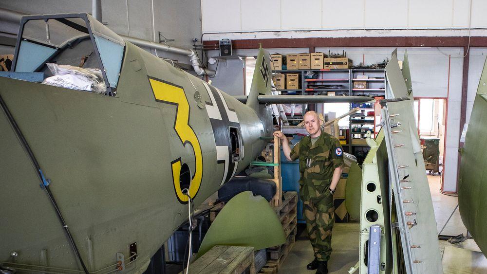 UKENS GJEST: Major Anders Utgård ved Flymuseet i Bodø.